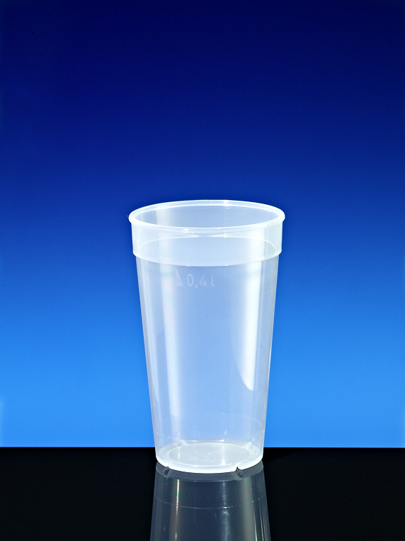 Becher mit Rand transparent C 0, 40l
