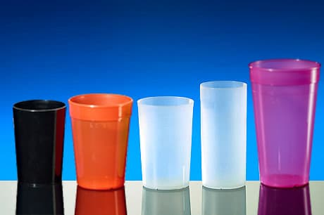 Reusable cups on offer